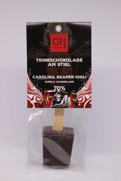 Trinkschokolade am Stiel Carolina Reaper Chili